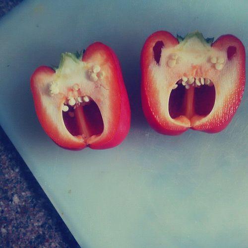 Freaky Capsicum Redpeppers Pepper monster