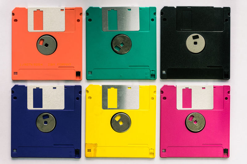 Floppy Close-up Computer Day Disks Electricity  Floppy Disk  Indoors  Multi Colored No People Technology