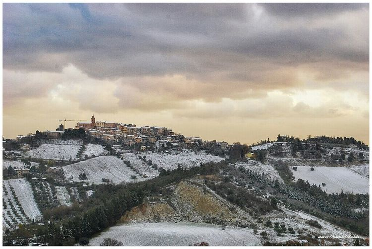 Monsampolo Del Tronto Landscape_photography Italy Winter The View From My Window Afternoon Sky Winteriscoming