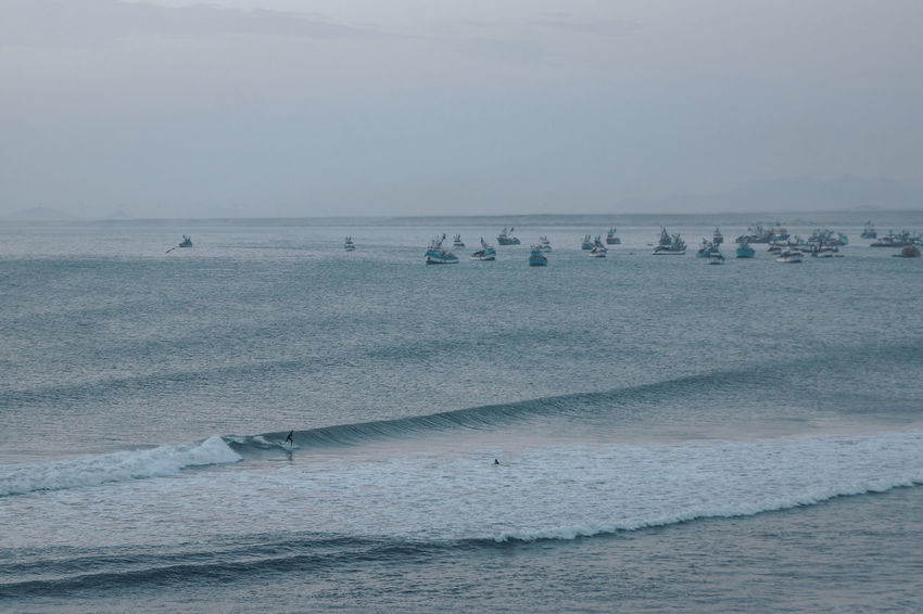 Apparently the longest left in the world. Surfer's paradise. South America Latin America Surf Surfing Water Sea Seascape Ocean Beach Outdoors Nature Beauty In Nature Horizon Over Water Adventure Aquatic Sport Harbor Port Sport Motion Wave Waterfront People Group Of People Nautical Vessel Transportation