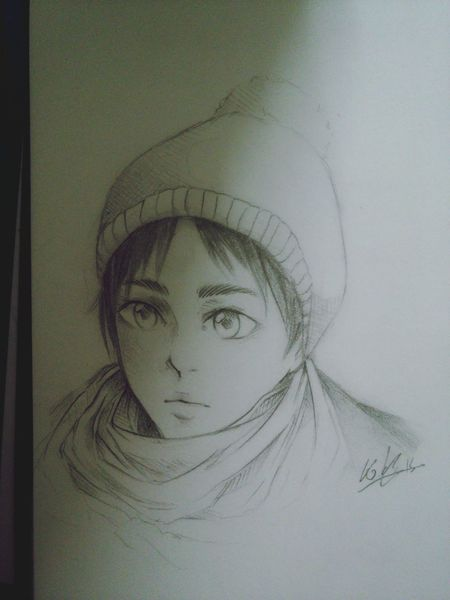 Art, Drawing, Creativity Art Drawing Anime Manga Sketch Snk Eren Attack On Titan Shingeki No Kyojin