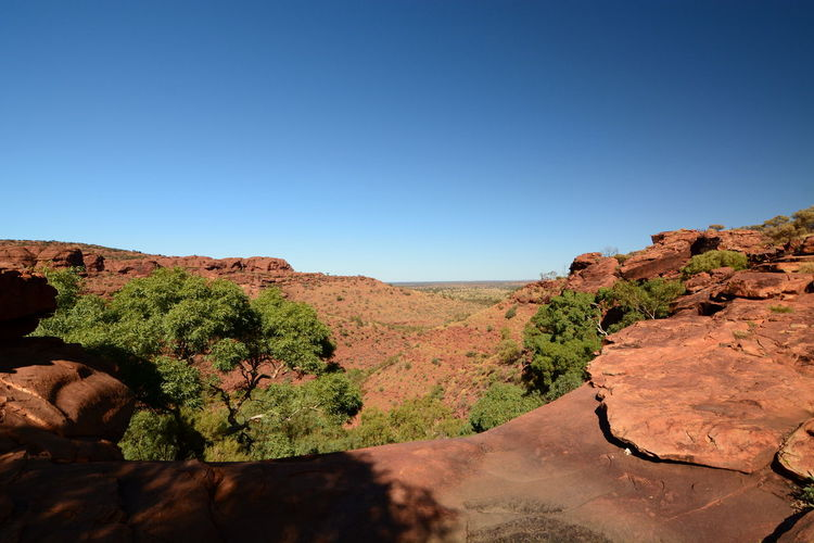 View from Kings Canyon. Watarrka national park. Northern Territory. Australia Australia Australian Landscape Red Centre Northern Territory Northern Territory, Australia Aussie Downunder Alice Springs Kings Canyon Northern Territory Australia Kings Canyon Watarrka National Park Outback Australia Outback Rim Walk Scenics - Nature Blue Clear Sky Tranquility Tranquil Scene Environment Beauty In Nature Nature Landscape Non-urban Scene Rock Formation Rock - Object No People Eroded Arid Climate Climate Outdoors Mountain Rock
