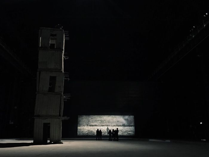 Anselm Kiefer Modern Art Art Milano Anselm Kiefer Pirelli Hangar Bicocca Architecture Built Structure Building Exterior Real People Illuminated Group Of People Building Silhouette Dark