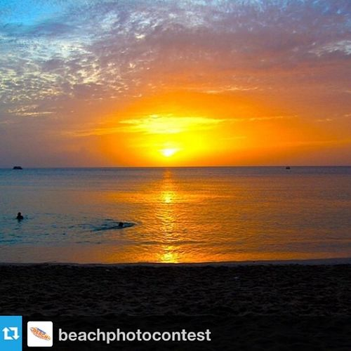 Repost from @beachphotocontest with @repostapp --- Photo submitted by @duppy__kankera Sunset Surf Sunsetwars