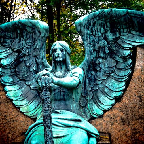 Lakeview Cemetary: The Haserot Angel Iphonephotography IPhone Photography Cemetery Photography Cemetery Cemetery_shots Statue Taking Photos Check This Out Followforfollow