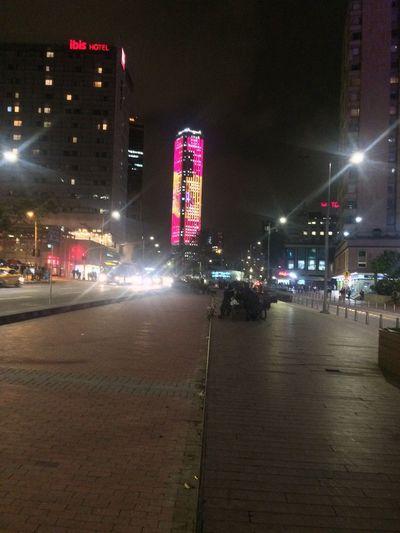 Night Illuminated Building Exterior City Architecture Built Structure Street