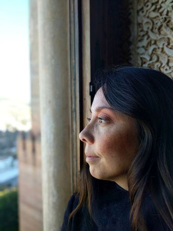 Only Women One Person One Woman Only Headshot Looking Through Window One Young Woman Only Portrait Beautiful Woman Contemplation Day Dreaming Granada, Spain Alhambra De Granada  The Portraitist - 2018 EyeEm Awards