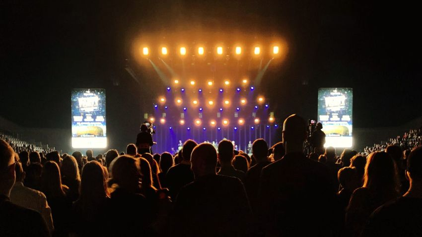 Concert Large Group Of People Crowd Real People Illuminated Arts Culture And Entertainment Audience Music Stage Light