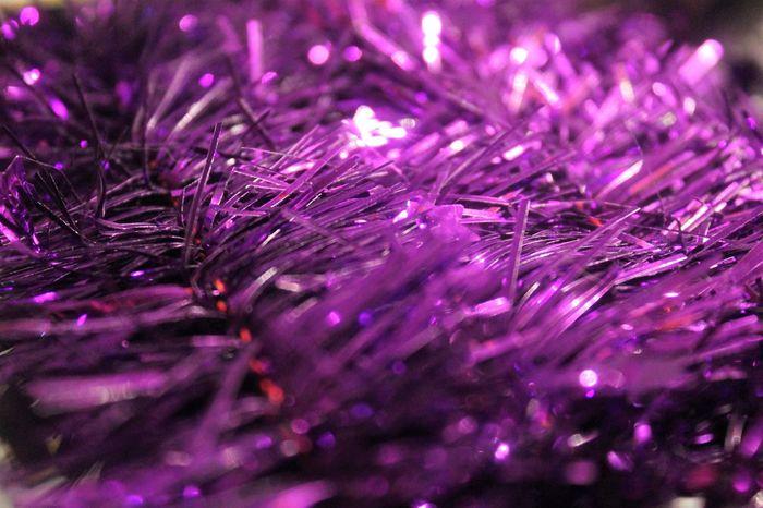 Purple Lametta Christmas Decoration Lametta Purple Purple Decoration Tinsel  Weihnachten Weihnachtsdekoration Xmas Xmas Decorations