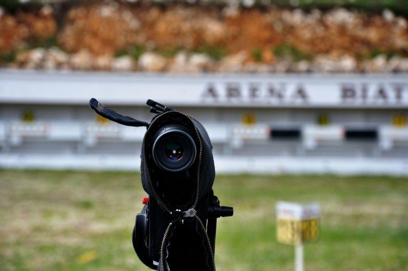 Close-Up Of Video Camera In Stadium