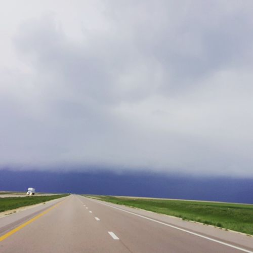 Before entering Colorado, we were treated with this impressive looking Thunderstorm on I -70 West near Goodland, KS.. wind, rain and a little hail; it did not disappoint.. KSWX