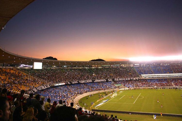 Football Fever Brazil Riodejaneiro Maracanã Stadium Stadium Atmosphere
