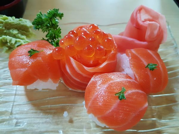 Close-up Day Ready-to-eat No People Healthy Eating Food And Drink Indoors  Food Freshness Salmon - Seafood Ikura Caviar Caviar High Angle View Food Design Food Styling Japanese Food Bowl Freshness Asian Meal Seafood Salmon