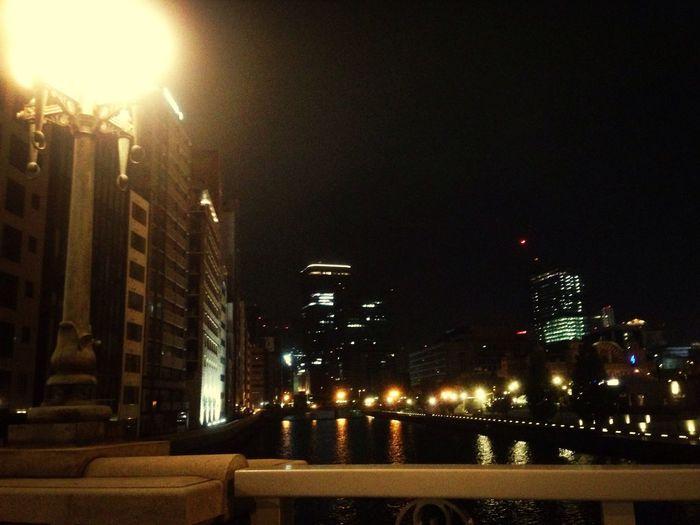 Osaka,Japan Bridge Night