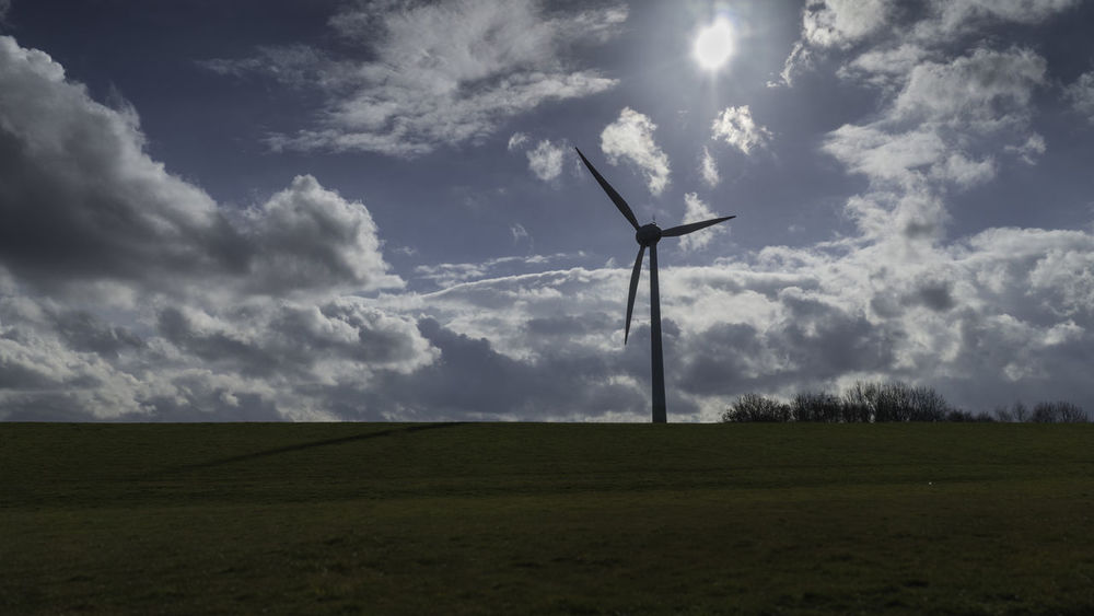 Cloud Cloud - Sky Field Landscape Nature Otterndorf Sun Wind Turbine