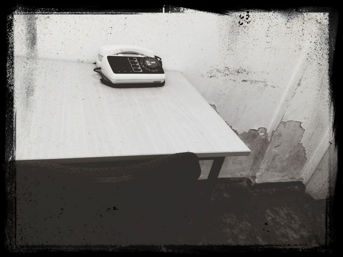 time has stopped here Remnants Of Socialism Sicialist Office Old Phone Black And White