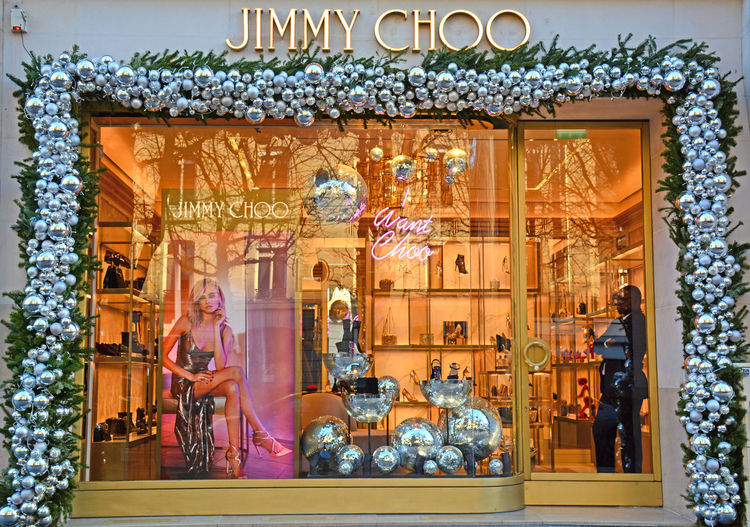 Champs-Élysées  Christmas Decoration Close-up Day Fancy Human Representation Indoors  Jimmychoo No People Shopping Street Store Store Window Storefront
