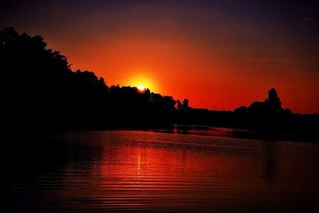 Reflection Orange Color Sunset No People Red Illuminated Beauty In Nature