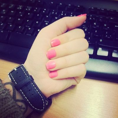 Pink Nail Cute Work hands