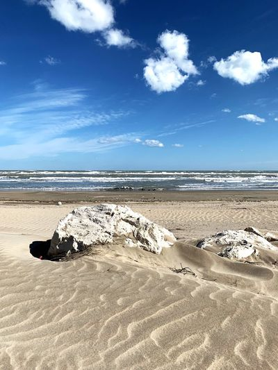 three clouds Beach Land Sand Sea Water Sky Cloud - Sky Beauty In Nature Tranquility Scenics - Nature Horizon Over Water Tranquil Scene Sunlight No People Horizon