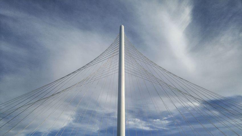 Architecture Bridge Man Made Object Margrethunthillbridge Clouds Clouds And Sky Suspension Bridge White Blue Sky Cloud - Sky Steel Cable Bridge - Man Made Structure Engineering The Architect - 2018 EyeEm Awards