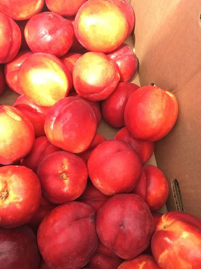 Peaches In A Box Peaches Farmers Market SeattleGamble Whidbey Island Fruit Colour Of Life Colour Of Life Colour Of Life, Sunny Day Sun On Peaches Bite Me Ripening Ripening Fruit Ripe Peaches