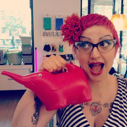 Il mondo Fucsia di @natasciaraffio Pink Elephant Tiger innaffiatoio tattoo lovely stripes
