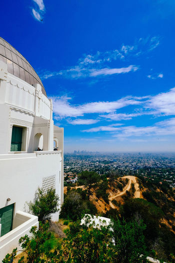 Observatory View Architecture Beauty In Nature Blue Building Exterior Built Structure Cloud - Sky Day Landscape Losangeles Nature No People Outdoors Scenics Sky Tree