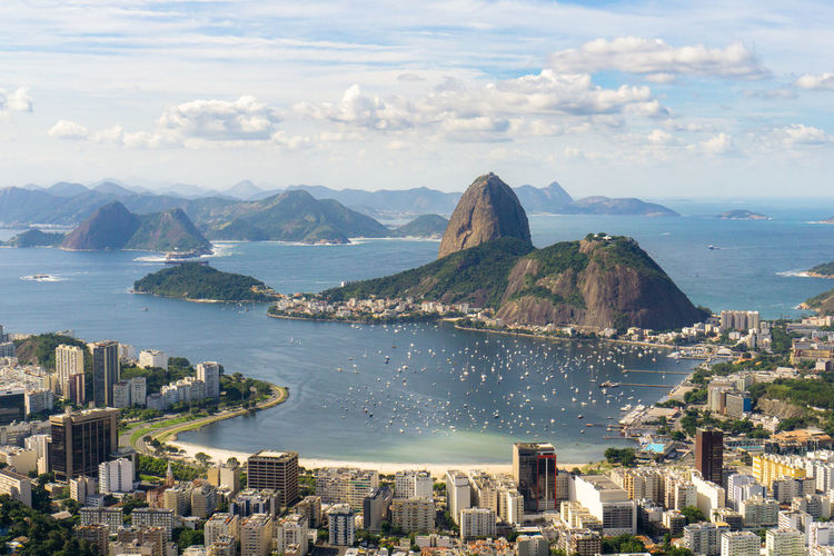 Rio De Janeiro Building Exterior Built Structure City Cityscape Cloud - Sky Day High Angle View Horizon Over Water Mountain Nature No People Outdoors Scenics Sea Sky Skyscraper Travel Destinations Water