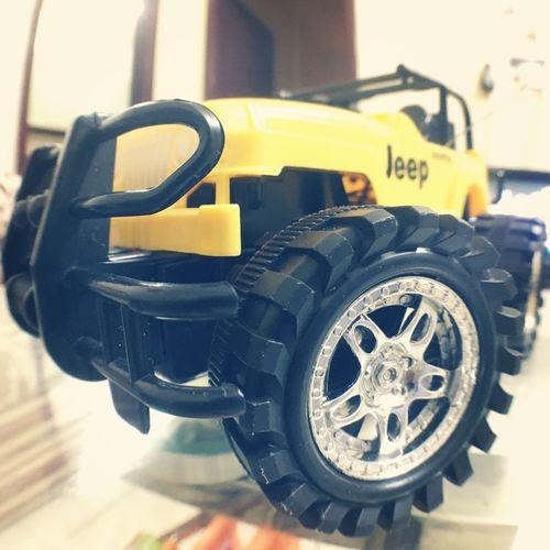 Close-up Yellow Jeep Toy Toyphotography Aukeyfisheye
