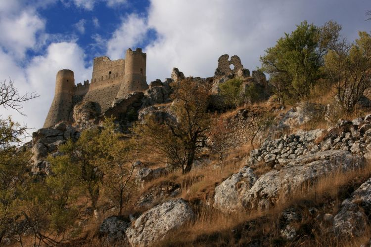 View of the famous Rocca Calascio in Abruzzo Abruzzo Calascio Castle Ladyhawke Castle Nature Rocca Calascio Ruins Travel Architecture Building Cloud - Sky Europe Fortress Historic Italy Ladyhawke Landmark Landscape Mountain Nature Park Plant Rock - Object The Past Travel Destinations