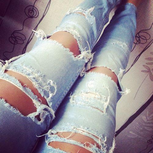 Дюбимые джинсы делаю сама ?