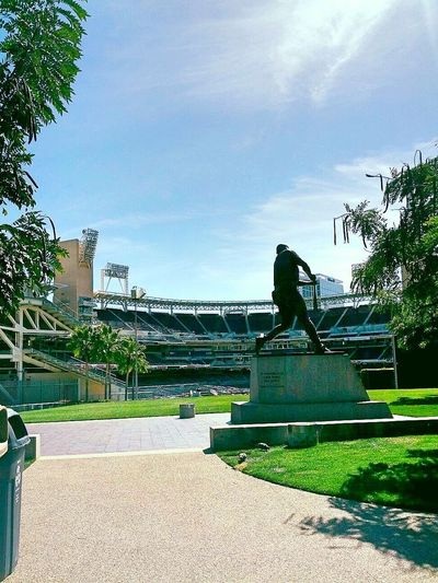 Bronzed by Timothy Stubblefield features the statue of Tony Gwynn at PetCo Park in San Diego, California. Tony Gwynn Baseball San Diego Petco Park Americam As Apple Pie Americas Pastime Day Spring Color Bright