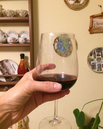 Бокал с вином в руке Бокал В Руке красное вино вино Human Hand Hand Human Body Part Holding One Person Indoors  Lifestyles