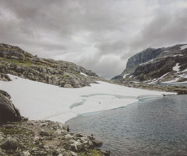 Nature Mountain Tranquil Scene Norway Glacier No People Snow Hiking