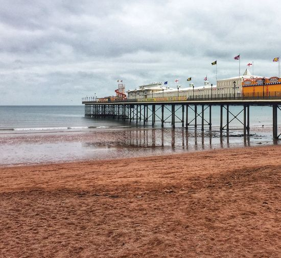 Paignton Pier, Winter Pier Seaside Devon Paignton Sea Cloud - Sky Sky Beach Water Sand Built Structure Architecture Outdoors Nature Horizon Over Water Day Building Exterior No People