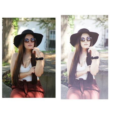 Sunglasses Beauty Young Women Glamour Fashion Hat City Photograph