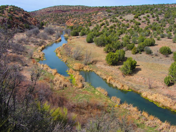 Upper Verde River, Arizona. Arizona Arid Climate Beauty In Nature Day Kayak Landscape Mountain Nature No People Outdoors River Scenics Stream - Flowing Water Tranquil Scene Tranquility Tree Verde River Water Go Higher