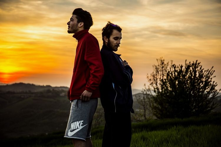 Two People Sunset Men Adult People Young Adult Warrior - Person Nature Sky Beauty In Nature Cloud - Sky Sunlight Dramatic Sky Nike Nike✔ Nike, Just Do It Canon5DIII