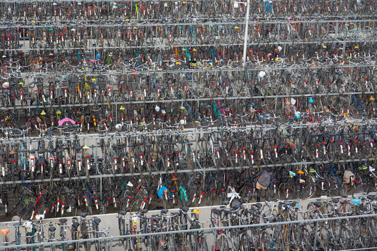 Full frame shot of bicycles