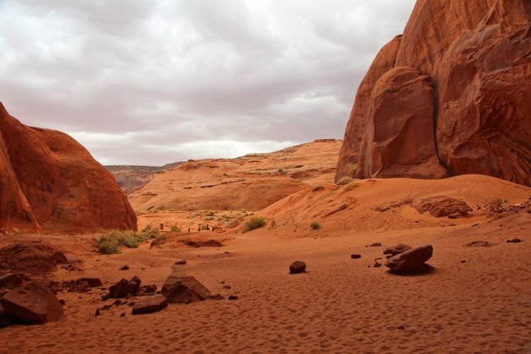 Beautiful monument valley Cloud - Sky Rock Sky Rock - Object Rock Formation Solid Scenics - Nature Tranquil Scene Beauty In Nature Tranquility Non-urban Scene Landscape Arid Climate Climate Environment Mountain Nature Geology Remote Desert Physical Geography No People Mountain Range Formation Eroded