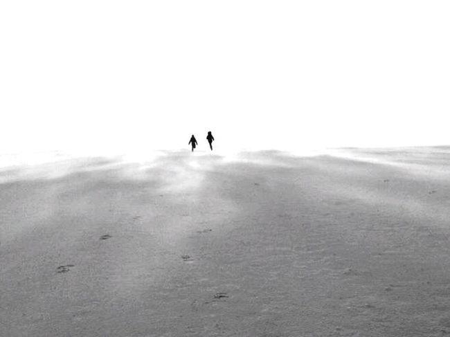 Kids Beach Blackandwhite Disapearing Future Growing Up Sand Wind Sea Storm Stormy Weather Netherlands Wadden Sea Waddenzee Running Black And White Bnwphotography EyeEm Best Shots - Black + White