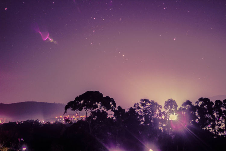 Magic purple sky
