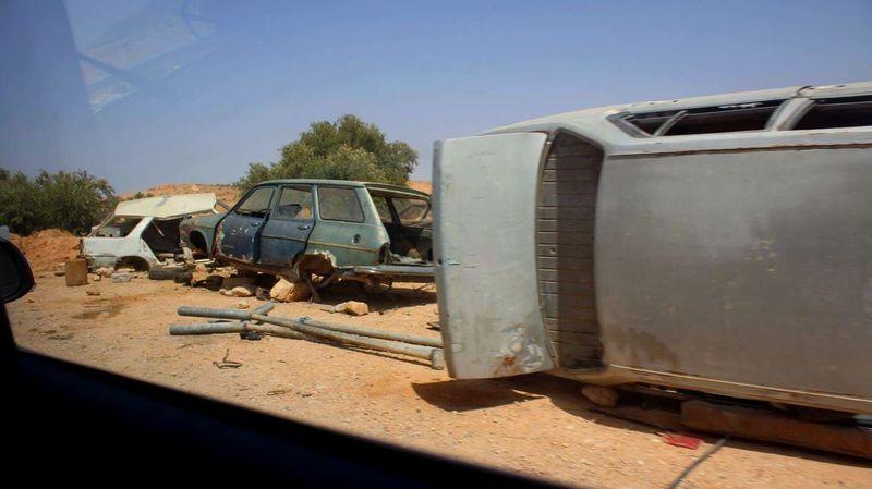 Near the Sahara Land Vehicle Outdoors Desert Tunisia Hot Day Sun Cars