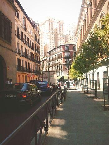 Under Pressure behind plaza españa in centre of Madrid Urbancity Old Buildings