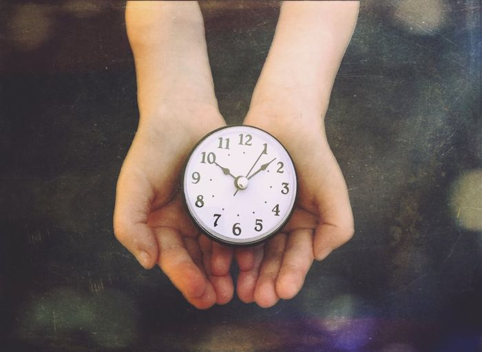 Time on your hands Clock Time Clockface Dial Clock Dial Timepeice Clock Hands Hands Child Childs Hands Looking Down Tick Tock Mextures