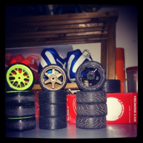Drift Hard | 3 Sets for current set up. 2 Drifts and a set of track tyres. Hpi Hpiracing Drifthard Remotecontroldrifting remotecontrolracing tyres rcdrift rcrace