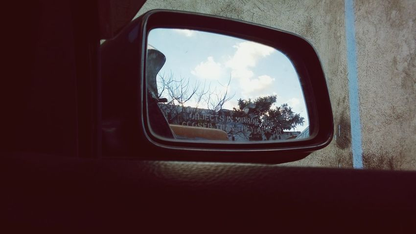 Window Transportation Car Vehicle Mirror Vehicle Interior Reflection Looking Through Window Sky Indoors  Tree Travel Day No People Nature Side-view Mirror EyeEmNewHere Movilephotography God Is Good Love ♥