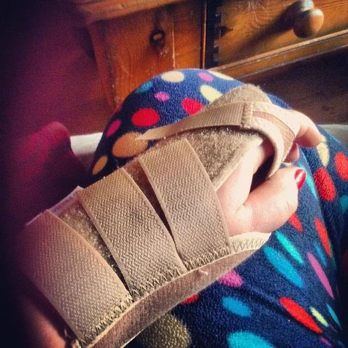 Rocking the sprained-swollen-pocadot look Pain Fubunker