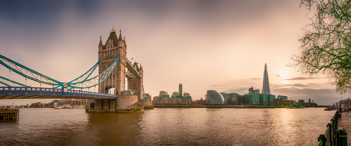 Cities At Night City Cityscape City Skyline Photography Landscape Outdoors Landscape_photography Outdoor Photography Cityscape Photography Sunset Sunset_collection London Tower Bridge  River Thames Mtphotography Addicted2walking Taking Photos Composition Panorama Panoramic Photography HDR Hdri Hdr Photography